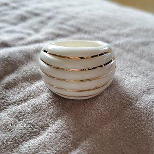 14K & Ceramic Dome Ring